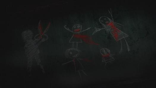 Corpse Party OVA - Missing Footage Blood Scissors Chalkboard