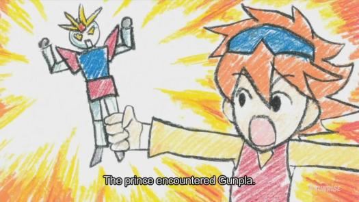 Gundam Build Fighters Reiji Prince Crayon Gunpla
