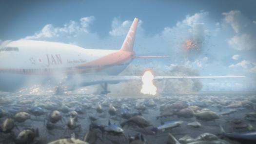 Gyo Tokyo Fish Attack Plane Landing