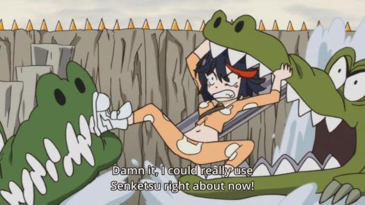 Kill la Kill Ryuuko Matoi Pajamas Crocodile Alligator Moat Swamp
