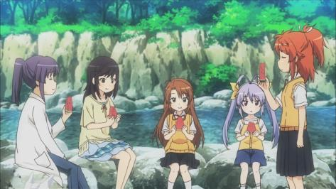Non Non Biyori Group River Watermelon