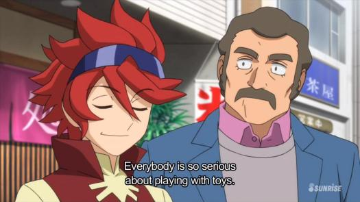 Gundam Build Fighters Reiji Mr. Ral Serious Toys