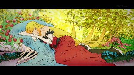 Monogatari Series Second Season Shinobu Oshino Kissshot Acerolaorion Heartunderblade Vampire God Sleeping