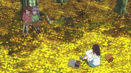 Non Non Biyori  Autumn Fall Drawing Komari Koshigaya Hotaru Ichijou Renge Miyauchi