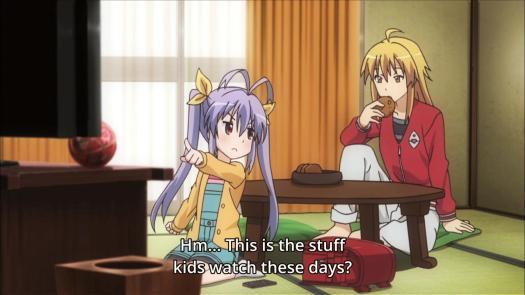 Non Non Biyori Renge Miyauchi Kaede Kagayama Greatman Kids Watching