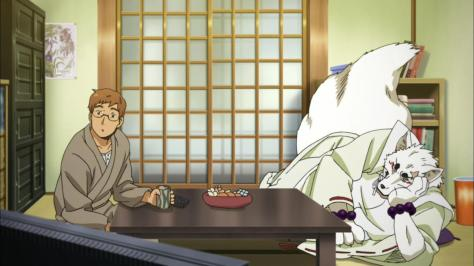 Gingitsune Tatsuo Saeki Gintaro Watching Television