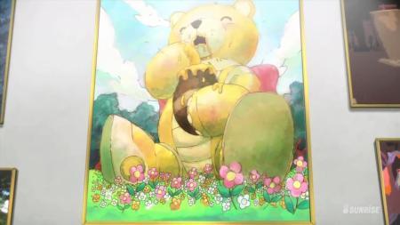 Gundam Build Fighters Bearguy in Wonderland Painting Art Honey China Kousaka
