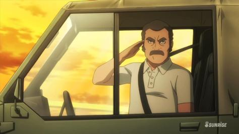 Gundam Build Fighters Mr. Ral Salute Truck Sunset