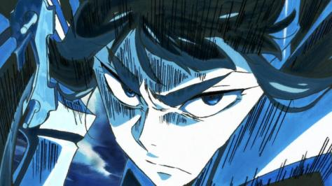 Kill la Kill Satsuki Kiryuuin Sword Blue Fight Focus Face Glare