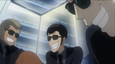 Lupin III Green Vs Red Lupin Undercover Nighthawks Elevator Smile Grin Slapstick Suit