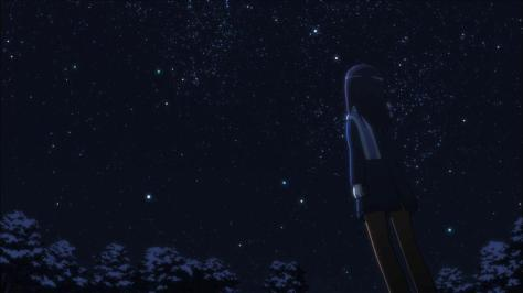 Non Non Biyori  Hotaru Hotarun Ichijou Night Evening Stars Snow Country School Sky