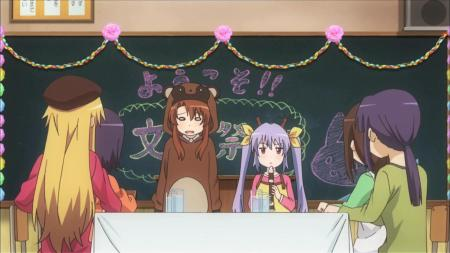 Non Non Biyori  Komari Koshigaya Renge Miyauchi Recorder Cultural Festival Tanooki Costume Classroom