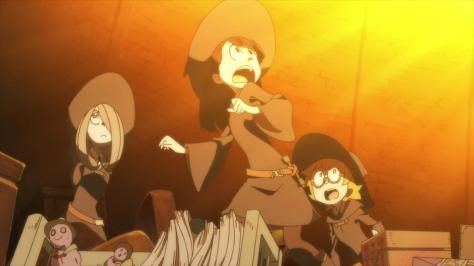 Anime Mirai 2013 Little Witch Academia Akko Kagari Sucy Manbavaran Lotte Yansson Fire Surprise