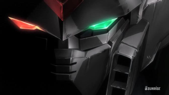 Gundam Build Fighters XXXG-01Wf Wing Gundam Fenice Face Head Close Up Green Red Eyes Profile Ricardo Fellini