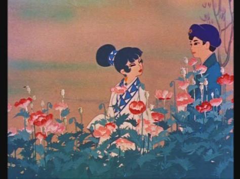 Hakujaden The Tale Of The White Serpent Xu-Xian Bai-Niang Garden Flowers Walk