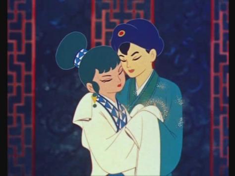 Hakujaden The Tale Of The White Serpent Xu-Xian Bai-Niang Hug Embrace Kimono