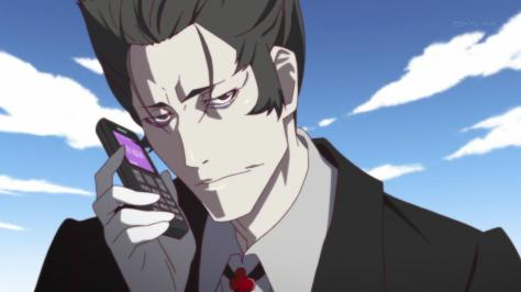 Monogatari Series Second Season Deishu Suzuki Kaiki Cell Phone Suit Call