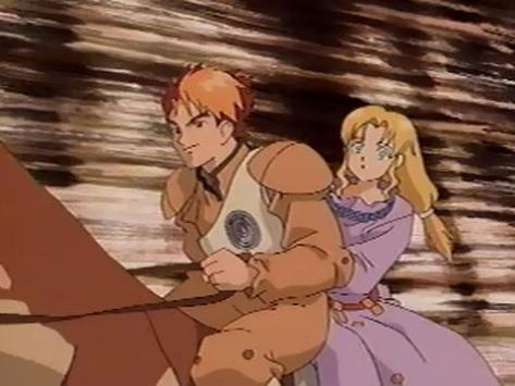 Panzer Dragoon OVA Kyle Alita Cayon Ride Desert