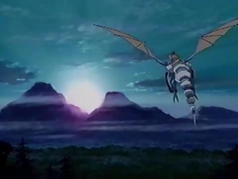 Panzer Dragoon OVA Kyle Blue Dragon Sunrise Mountains Flying