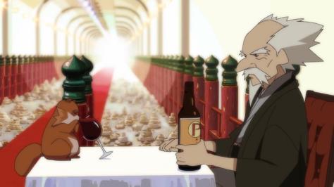 The Eccentric Family Uchouten Kazoku Souichirou Shimogamo Professor Akadama Drinking Port Wine Tanooki Tanuki