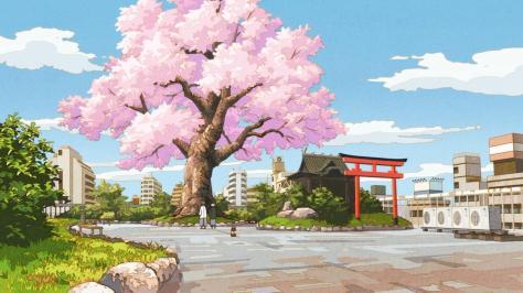 The Eccentric Family Uchouten Kazoku Yasaburou Shimogamo Professor Akadama Spring Cherry Tree Shrine