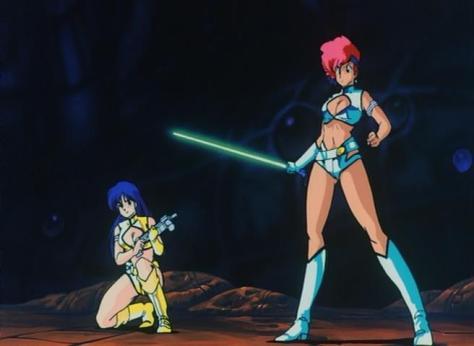 Dirty Pair The Movie Project Eden Yuri Kei Machinegun Laser Sword