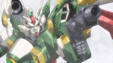 Gundam Build Fighters XXXG-01Wf Wing Gundam Fenice  Ricardo Fellini Beam Rifle Aim Snow