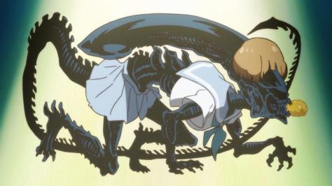 Kill la Kill Mako Mankanshoku Xenomorph Alien Sailor Uniform Sefuku Tempura