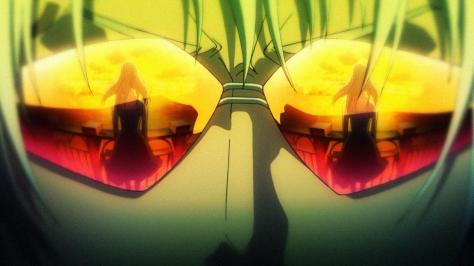 Mardock Scramble Shell Septinos Sunglasses Reflection Girl Sunset Bridge