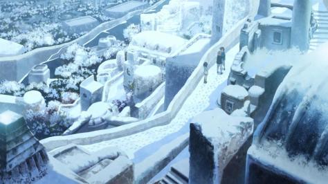 Nagi no Asukara Miuna Shiodome Hikari Sakishima Kaname Isaki Shioshishio Saltflake Snow Landscape