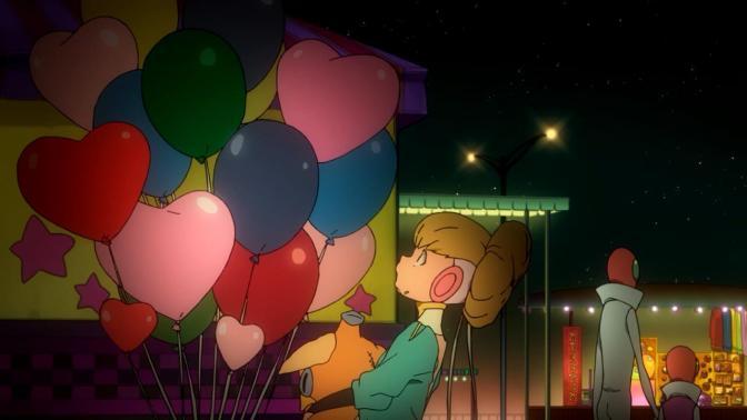 Space Dandy Adélie Carnival Amusement Park Balloons Evening Night Sky Stars Wonder Amazement