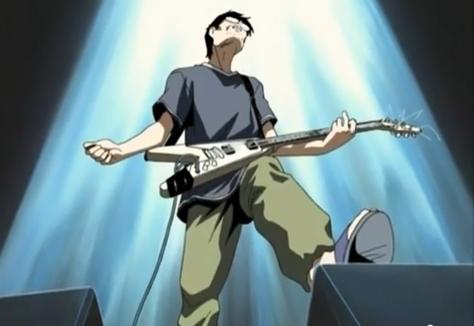 The Legend of Black Heaven Oji Gabriel Tanaka Flying V Guitar Power Chord Amp Stance Spotlight