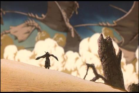 Vampire Hunter D Bloodlust Destert Manta Ray Sand Robot Horse Cape Wind Dust