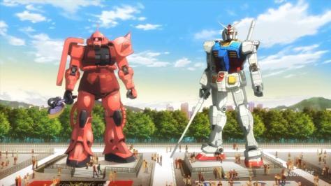 Gundam Build Fighters Life Sized Gundam RX-78 Red Zaku