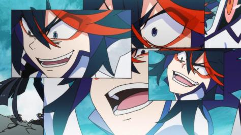 Kill la Kill Ryuuko Matoi Junketsu Mosaic Insane Mania Rage Faces
