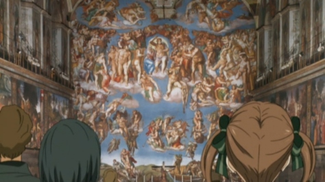 Maria Watches Over Us 3rd Maria-sama ga Miteru 3rd The Last Judgement  Il Giudizio Universale Fresco  Michelangelo  Sistine Chapel