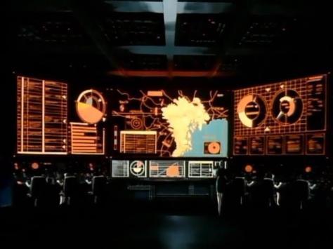 Metal Skin Panic Madox-01 Command Center United States Computer Screens Japan Tokyo Cyberpunk