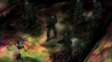 Pupa Yume Hasegawa Military  Security Team Machine Guns Corpses Rainbow Hallway