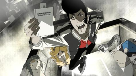Space Dandy Black And White QT Meow Honey Standing On Table