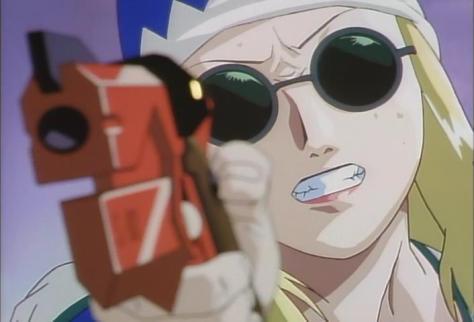 A Kite Sawa Circle Sunglasses Blonde Wig Red Gun