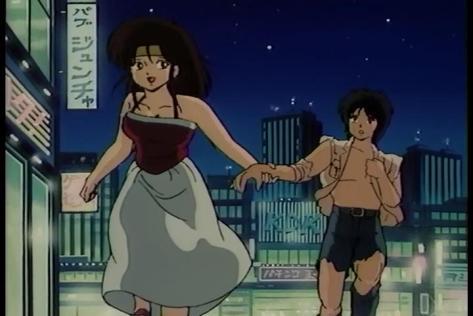 Call Me Tonight OVA Rumi Natsumi Ryo Sugiura City Night Evening Destroyed Clothes Run Date