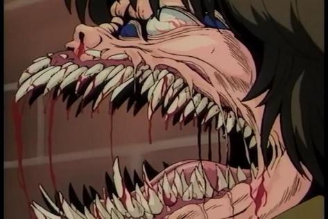 Call Me Tonight OVA Ryo Sugiura Transformation Teeth Blood Head Mutilation Monster