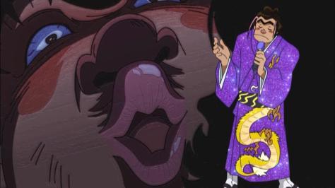 Rowdy Sumo Wrestler Matsutaro Abarenbou Kishi!! Matsutarou Purple Dragon Kimono Kiss Face Singing Intro Matsutarou Sakaguchi