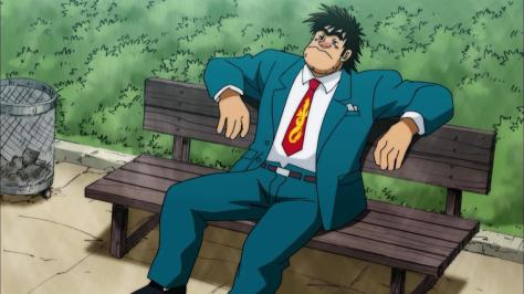 Rowdy Sumo Wrestler Matsutaro Abarenbou Rikishi!! Matsutarou Matsutarou Sakaguchi Interview Suit Park Bench Sad