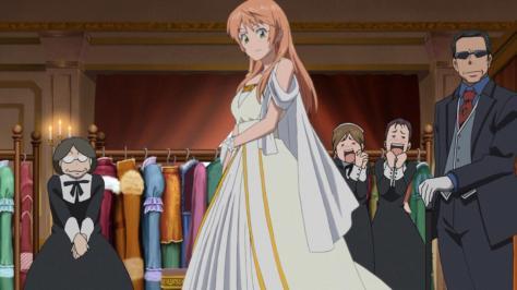 Soredemo Sekai wa Utsukushii The World is Still Beautiful Nike Remercier Engagement Dress White Gold Royal Fashion Designer