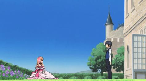 The World is Still Beautiful Soredemo Sekai wa Utsukushii Princess Nike Remercier Livius Orvinus Ifriqiyah Castle Garden Pink Dress Flowers