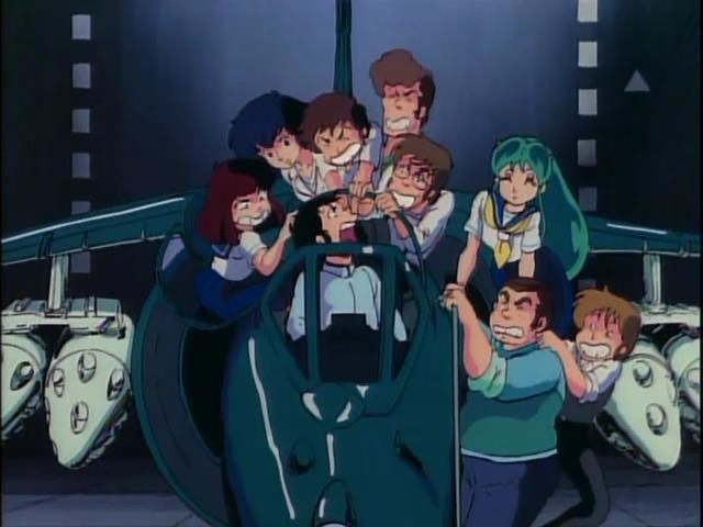 Urusei Yatsura - Movie 2 Beautiful Dreamer Harrier Fighter Jet Lum Ataru Moroboshi Sakura Shinobu Miyake Shutaro Mendo Megane Hiroyuki Kosuke Shirai Akira