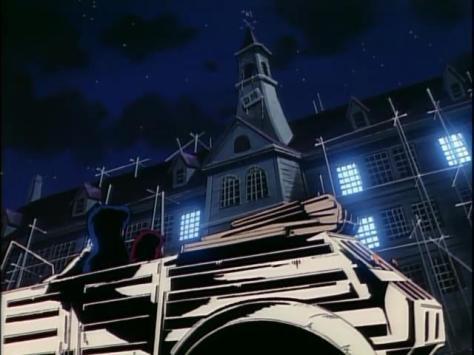 Urusei Yatsura - Movie 2 Beautiful Dreamer Shinobu Miyake Sakura Tomobiki High School Night Sky Lights Flashing
