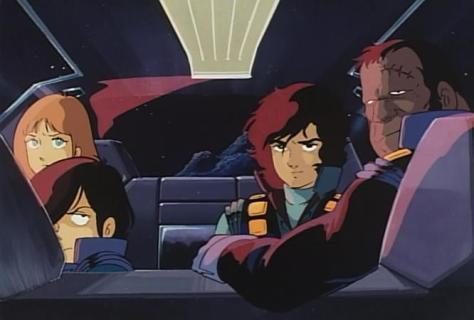 Crusher Joe The Movie Talos Alfin Ricky Car Backseat Serious