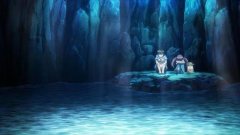 Kanojo ga Flag wo Oraretara If Her Flag Breaks Gaworare Souta Hatate Kurumiko Daishikyougawa Alcove Cave Secret Spot Ocean Water Rising